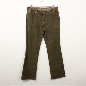 Eddie Bauer Medium Brown Corduroy Pants - Size 12